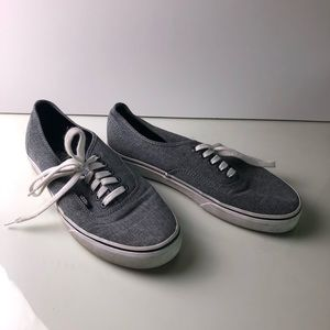VANS Chambray Blue Sneakers Shoes 9.5